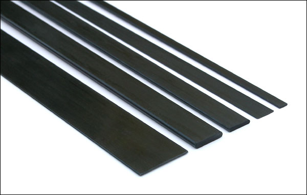 Carbon fiber pultruded strip / bar - 15mm x 3mm x 1000mm